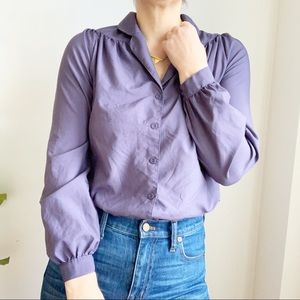 Sears Junior Bazaar Chiffon Purple Blouse Size M